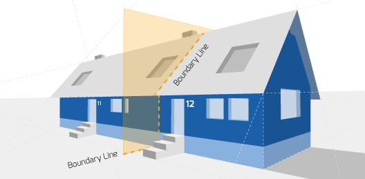 Party Wall illustration for Eccleshall