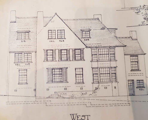 Eccleshall Surveyors. Building Plan of an old traditional house
